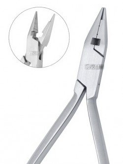 "IDC-394 JARABACK Pliers with T/C Cuttrs. Ideal for precise bending and forming loops in light wires up to .020"".Set of 3 grooves assures a firm grip.T/C Cutter formation makes it more versatile and cuts hard wires easily.Box Joint.  Stainles"