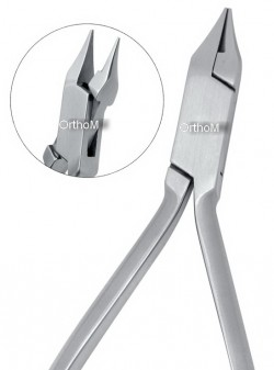 IDC-05-0411 Slim Bird Beak .Pliers Sloped beak 12.5cm. Utility Pliers popular for working round wires up to  .030.Tips are hardened. Box Joint Stainless Steel